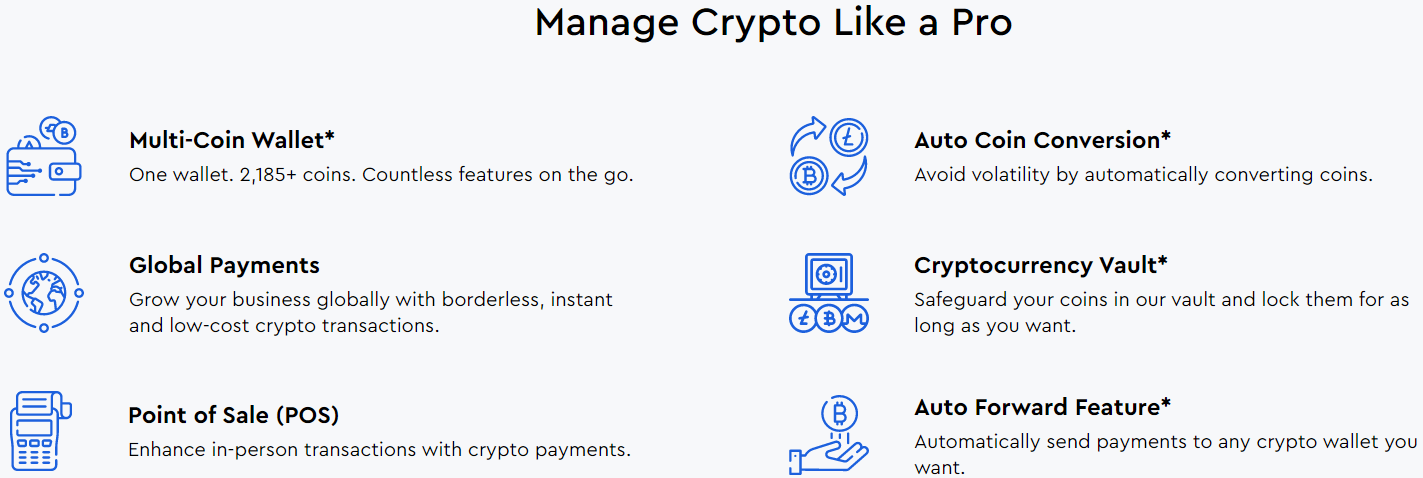 CoinPayments Wallet Reviews - Features of CoinPayments