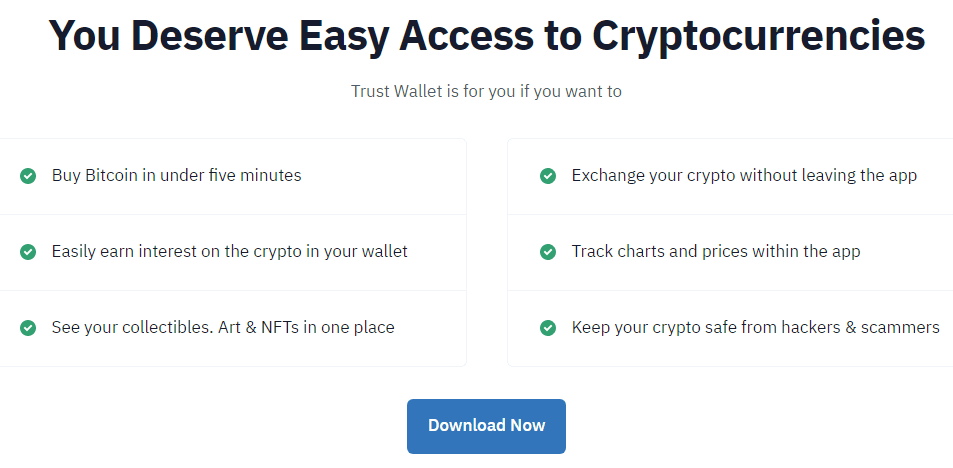 Features of Using Trust Wallet