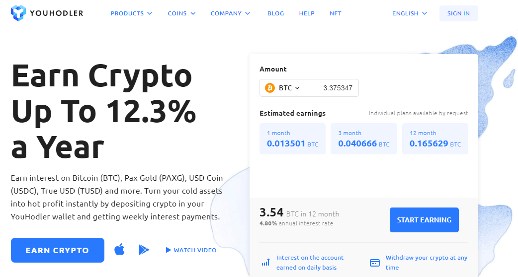 YouHodler Reviews - Earn Crypto upto 12.3% a Year with YouHodler